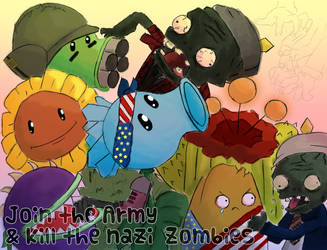 plants vs. zombies WW2 propaganda by cutieexplosion