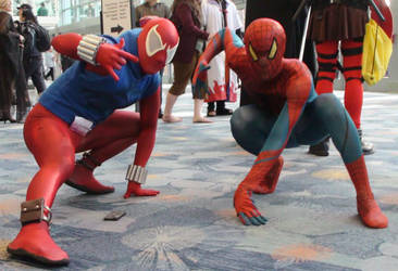 Scarlet Spider and Spider-Man at WonderCon 2013 by trivto