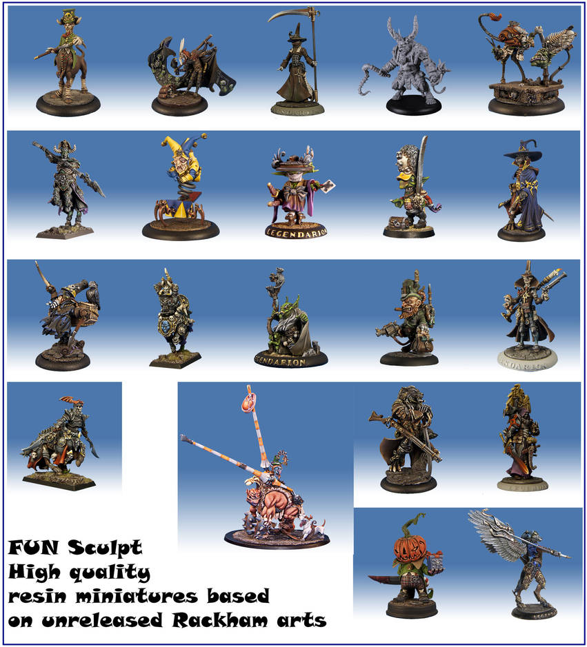 Rackham Conf Unreleased miniatures you can have! by Warwolf1973