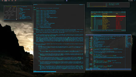 Crunchbang Desktop by gurhush