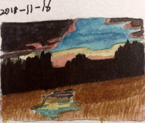 Tiny Landscape Study by MadScientistCarl