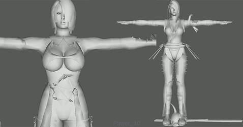 (SCIV) Ivy and Shura Models for SoulCalibur VI by bogard2377