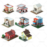 isometric 3d render building by nyengendadi