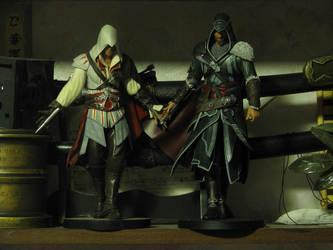 Ezio with dad by H-I-S-O-K-A