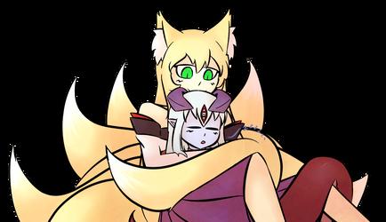 Tamamo and Alice by Critnuke