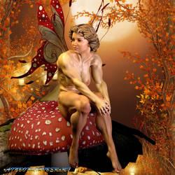 Fairy On a Mushroom by MichelleLeRainbow