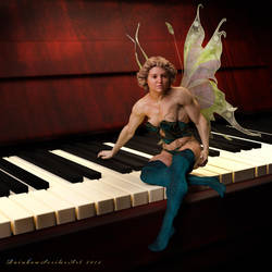 Fairy Muscle_There's a Fairy on my Piano by MichelleLeRainbow