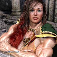Dangerous Females_Red Sonja Portrait of Power by MichelleLeRainbow