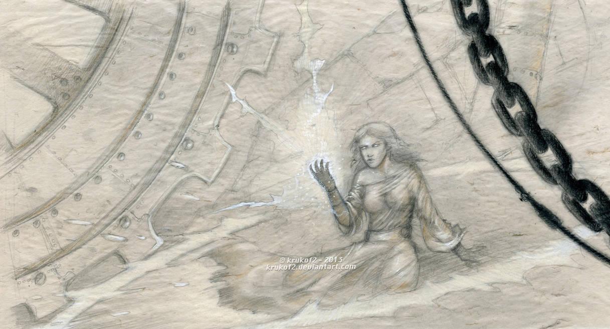 The Cerebium Sorceress - Cerebium Sparks Contest by krukof2
