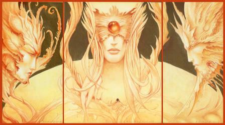 Triptyque Feerique / Fairy Triptych by krukof2