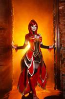 burn baby burn  Lina dota 2 cosplay by amio-mio