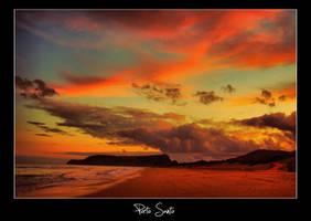 Porto Santo powerful sunset by globetrotter85