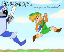 Link's One Jump Ahead by BlueLink