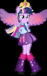 Equestria Girls: Twilight Sparkle Rainbowfied by TheShadowStone
