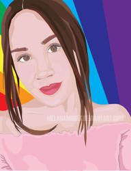 Colorful portrait by melanamobes