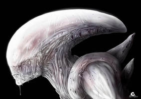 Variant of neomorph (Alien covenant) + Speed Paint by ArtAG95