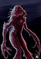 Bloodcurldling, creature design + SpeedPaint by ArtAG95
