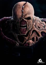 Nemesis, Resident Evil + Speedpaint by ArtAG95