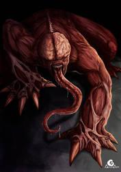 Licker, Resident evil + Speedpaint by ArtAG95
