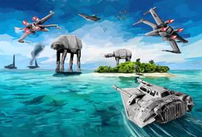 Battle for Mon Calamari by Galeart