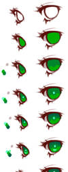 Anime Eyes Coloring Tutorial by HaloBlaBla