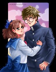 Naru and Umino by HaloBlaBla