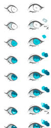 Anime Eyes Coloring Tutorial vol.2 by HaloBlaBla