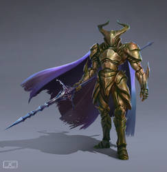 Knight in Chitin Armor by BABAGANOOSH99