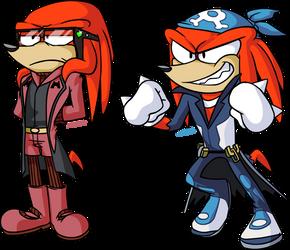 Team Magma and Team Aqua ..... and Knuckles by naysu