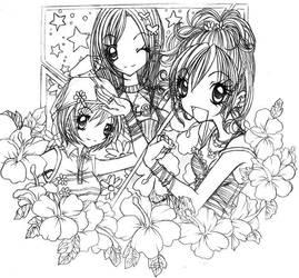 GALS +Ran+Aya+Miyu+ by IK-Doujin-Line