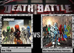 Death Battle Idea The Toas Vs The Herofactory by codeuphero01