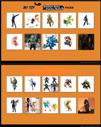 My top 20 Smash Bros. Fighter Ballot picks by codeuphero01