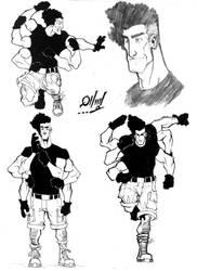 Superhero with 6 Arms by holako