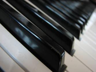 Piano Keys Closeup Stock by AiSac