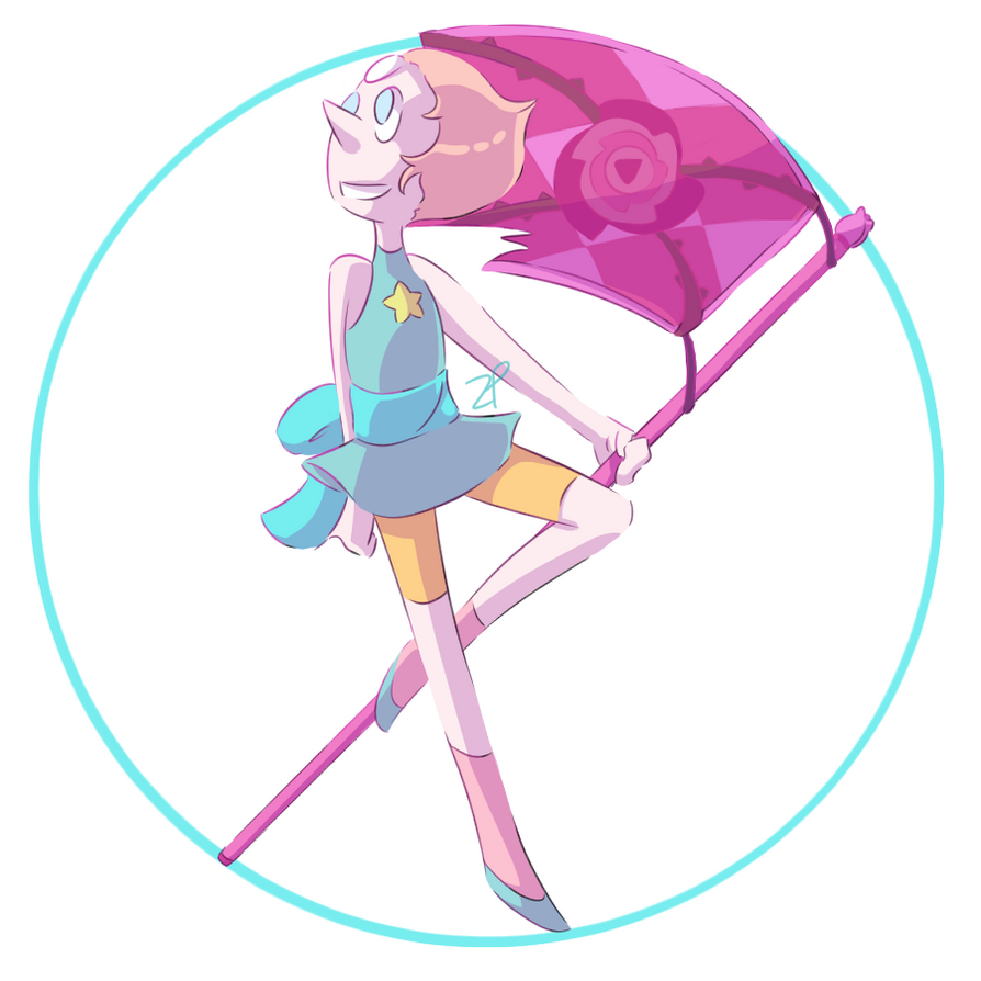 I'm hopefully going to be selling stickers later this summer! Here's Pearl!