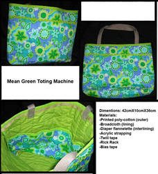 Mean Green Toting Machine by Gwendolinh