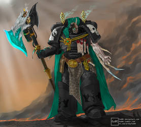 Black Dragons Chaplain by fed0t