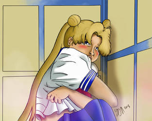 Sailor Moon Redraw - Usagi Crying by LHenderson
