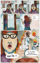 Kitchen Fire - page one by LHenderson