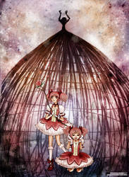 Puella Magi: Stages of Grief V by gomimushi