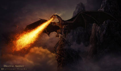 The Dragon of hell by BaltasarVischi