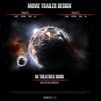 Movie Trailer Website Mockup by gauntler