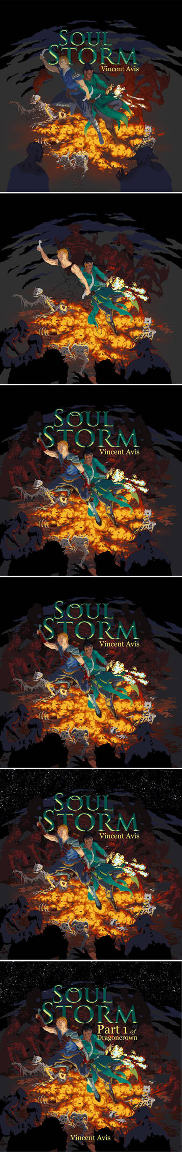 Soul Storm Cover Art step by step by Remietc