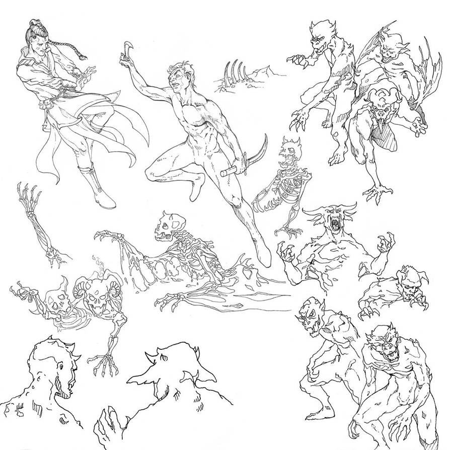 Soul Storm Cover Art: the original drawings by Remietc