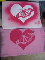 flutterby on my desk by paintisthenewdope