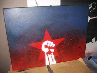 revolutionaire - red star by paintisthenewdope