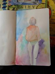 watercolour sketchbook by marko-kun-astur