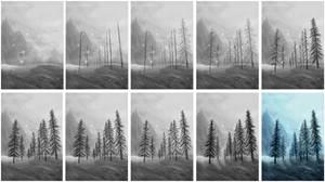 Tree Painting Progress by Isriana