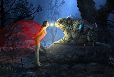 Kiss for the knight by sasha-fantom