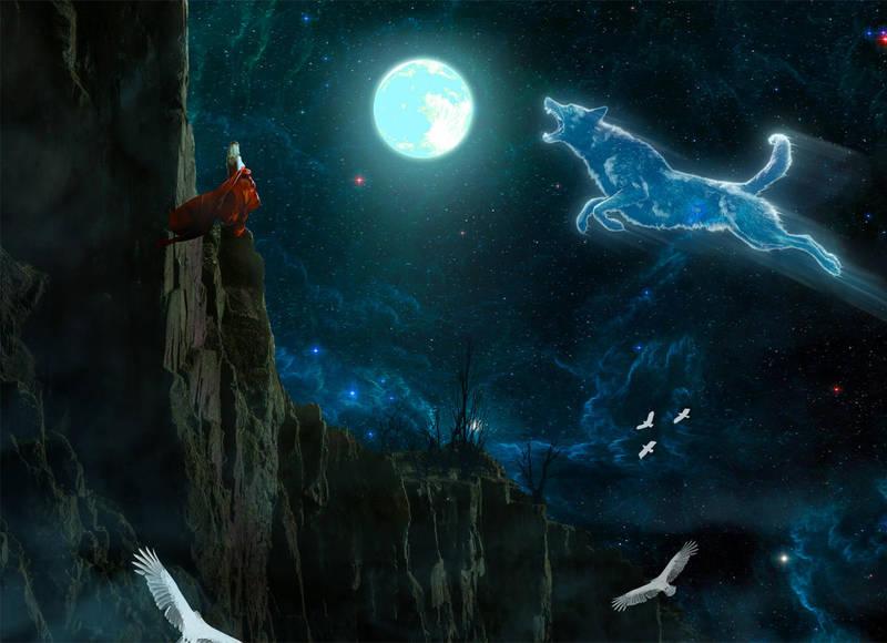 Dog that ate the moon by sasha-fantom